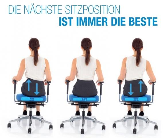 Köhl Bürodrehsessel Sitzposition